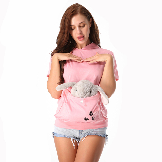 Factory seller Cat Lovers Hoodie Kangaroo Dog Pet Paw Dropshipping  Pullovers Cuddle Pouch Sweatshirt Pocket Animal Ear Hooded 4