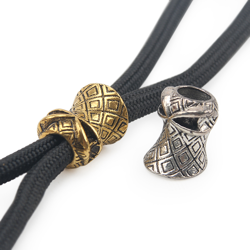 2PCS/LOT Zinc Alloy Knife DIY Beads Umbrella Rope Cord Outdoor Knife Gadgets Pendant Paracord Accessories(China)