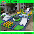 PVC 0.9mm inflatable water park,giant inflatable floating water park