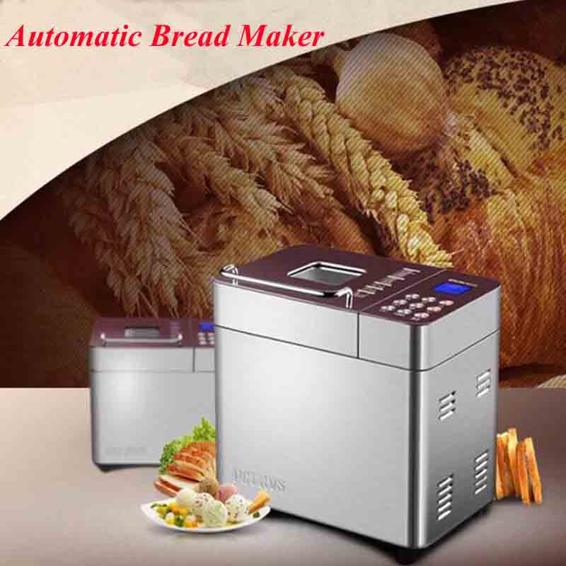 Fully-Automatic Bread Maker Machine with Double Tube Baking Intelligence Menu Item 25 Function of Ice Cream PE8550