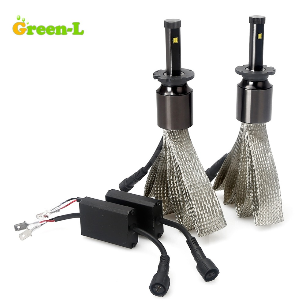Green-L 90W 11700LM 6000K D2S With Philips Chip 2X Plug Play Car LED Headlight Headlamp <font><b>Conversion</b></font> Lamp Fog <font><b>Light</b></font> DRL Kit Bulbs