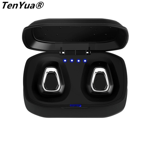 TenYua Wireless Stereo Bluetooth Headset  Handfree Sports Bluetooth Earphone With Charging Box For iphone Android PK X2T i7/i7s Karachi