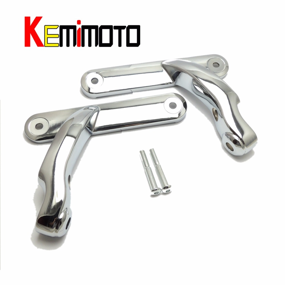 For Harley Street Electra Auxiliary Lighting Brackets Kit Electra Glide Chrome Frame Parts 2006 2007 2008 2009 2010 2011 2012-16 aftermarket free shipping motor parts toppers caps for 2007 2008 2009 2010 2011 2012 harley davidson softail twin cam chrome