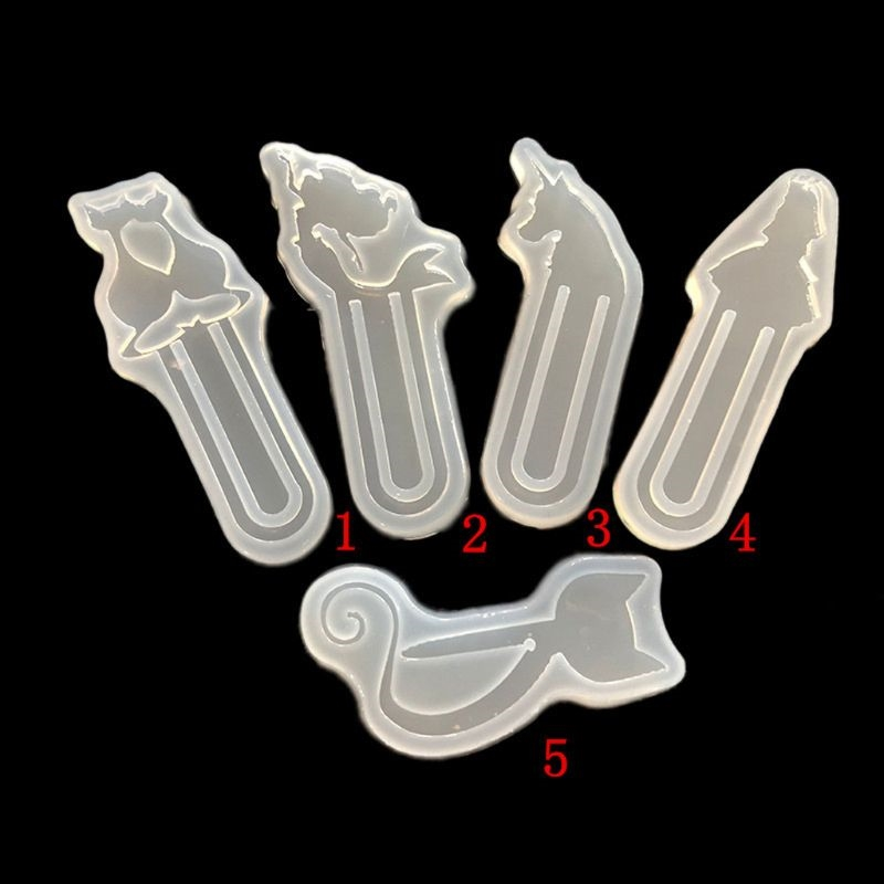 DIY Cat Shape Bookmark Mould Epoxy Resin Casting Silicone Molds Art Craft Tools