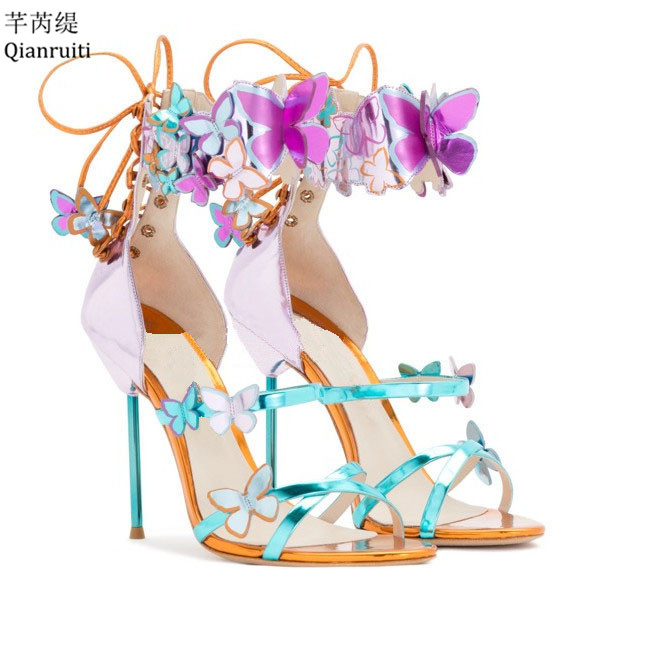 Appliques Qianruiti De Mariage Femmes Cheville Mariée Stiletto Chaussures Impression Haute Boucle Talons as Cuir Pompes Verni Shown Black SxOHwRqS