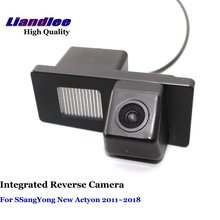 Liandlee Car Rear Reverse Camera For SSangYong New Actyon 2011~2018 Rear View Backup Parking Camera / Integrated SONY CCD HD new high quality rear view backup camera parking assist camera for toyota 86790 42030 8679042030