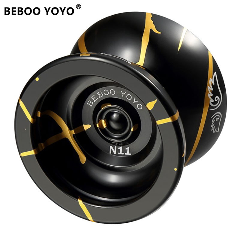 BEBOO YOYO Professionnel Yoyo Balle Yo yo ensemble kk portant Yo-yo En Métal Yoyo Classique Jouets Diabolo Magique Cadeau Pour Enfants n11
