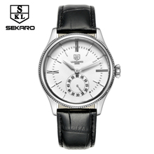 SEKARO Brand Luxury Male Steel Business Men Military Mechanical Wristwatches Clock Business Men's Waterproof Watches For Gift