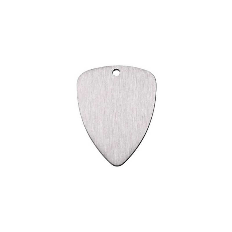 5pcs/lot High Quality 316L Stainless Steel Charm I Pick U Pendants Charms Guitar Pick DIY Accesorry