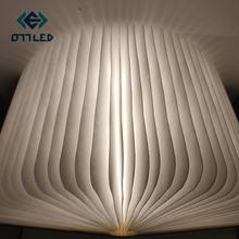 Деревянная складсветодиодный Светодиодная лампа для книг ночник