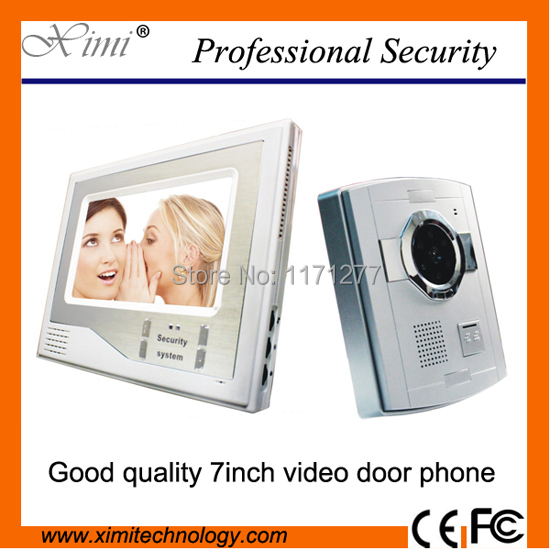 DHL free shipping good looking 7 TFT LCD video door phone video door bell with night version camera lem htr200 sb sp1 used in good condition with free dhl ems