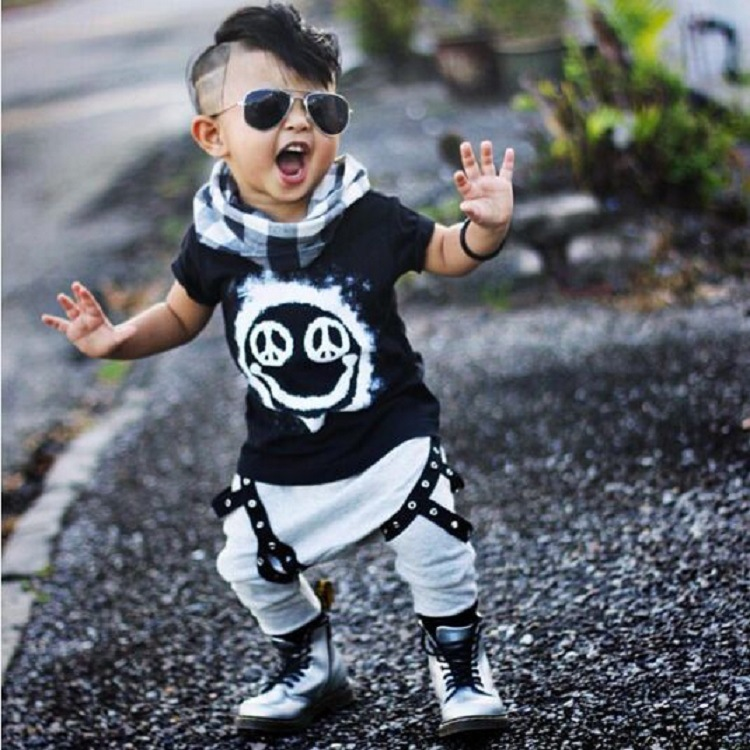 Clearance 90CM Baby Boy Clothing Set Boys Clothes Outfits Baby Kleding Meisje Black T Shirt Pants Summer Costumes ...