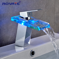 ROVATE LED bathroom faucet torneira do banheiro grifo lavabo robinet sink tap wall faucet musluk robinetterie salle de bain