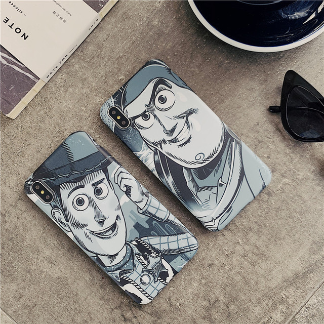 Cartoon sketch Toy Story Buzz Lightyear And Woody Case