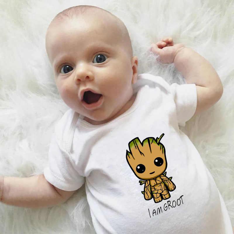 DERMSPE 2019 noworodek noworodek chłopcy dziewczęta z krótkim rękawem list drukuj Cute Cartoon Romper stroje letnie ubrania dla dzieci