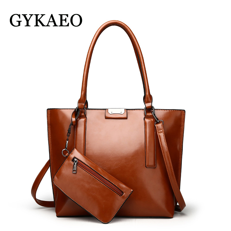 GYKAEO Female Fashion Tote Bags Handbags Women Famous Brands Pu Leather Large Capacity Messenger Shoulder Bag Ladies Sac A Main joyir fashion genuine leather women handbag luxury famous brands shoulder bag tote bag ladies bolsas femininas sac a main 2017
