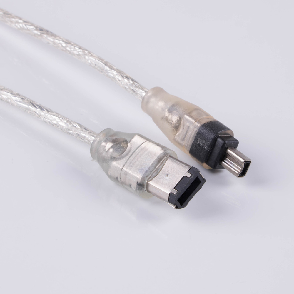 4P 4 Pin To 6 Pin IEEE 1394 For ILink Adapter Cable 4Pin To 6Pin Firewire Cable DV Camera Cable 5FT