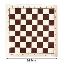 Size S-L Vinyl Tournament Chess Board Educational Games Magnetic For 34.5/42/50.05cm