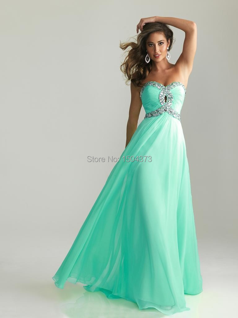 Descuento aguamarina verde baile vestidos largos de novia con ...