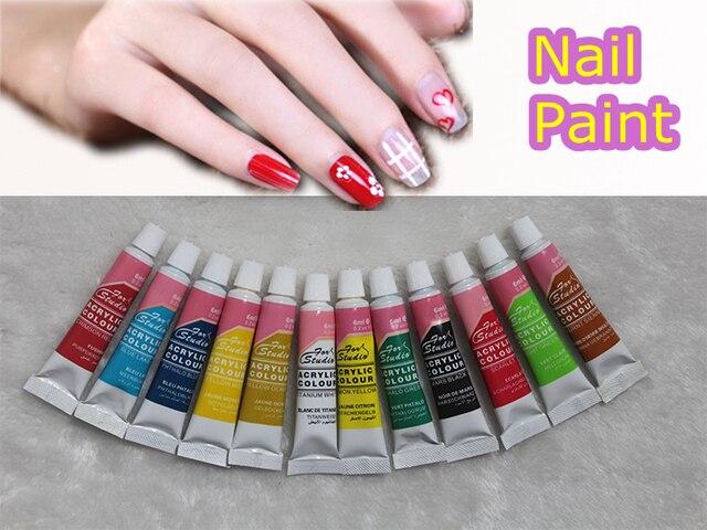 6 ml 12 color acrylic nail kit