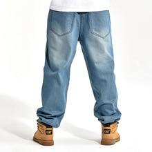 New Fashion Loose Men Jeans Casual Skateboard Pants Men's Baggy Jeans Wide Leg Hip Hop Male Denim Trousers men casual jeans plus size 40 38 42 44 46 male street dancer wwear skateboard hiphop baggy jeans man denim pants ashant