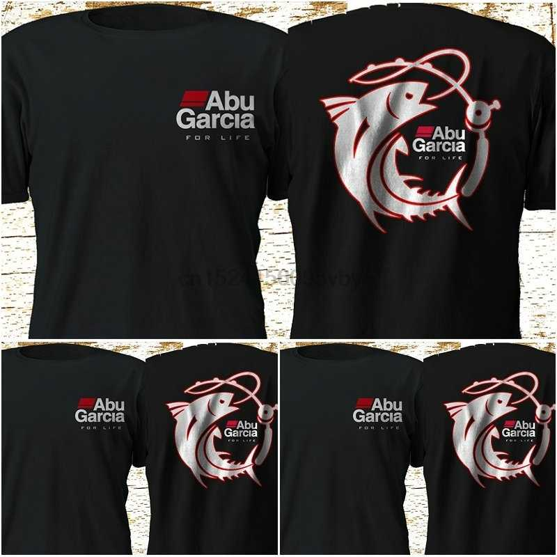 New Abu Garcia Okuma Penn SpiderWire Fishing Reel Black T-shirt S-3XL