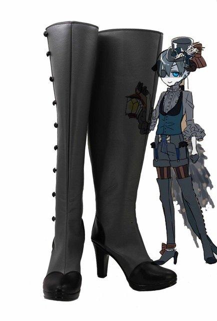 Black Butler Kuroshitsuji Demon Ciel Cosplay Shoes Boots Custom Made