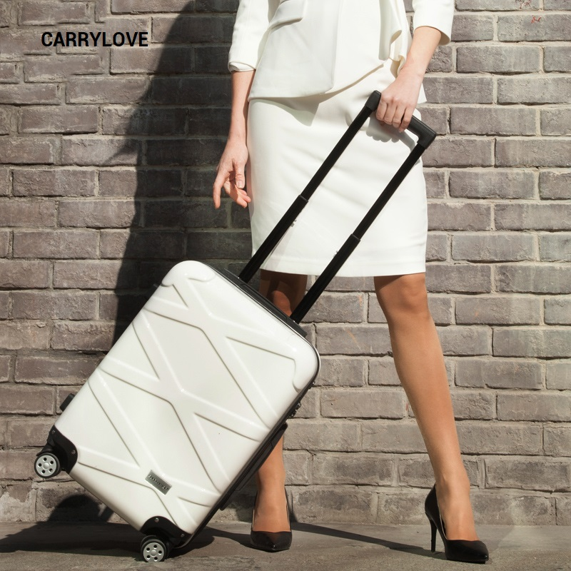 CARRYLOVE fashion business luggage series 20/24/26 inch size PC+ABS Rolling Luggage Spinner brand Travel Suitcase цена
