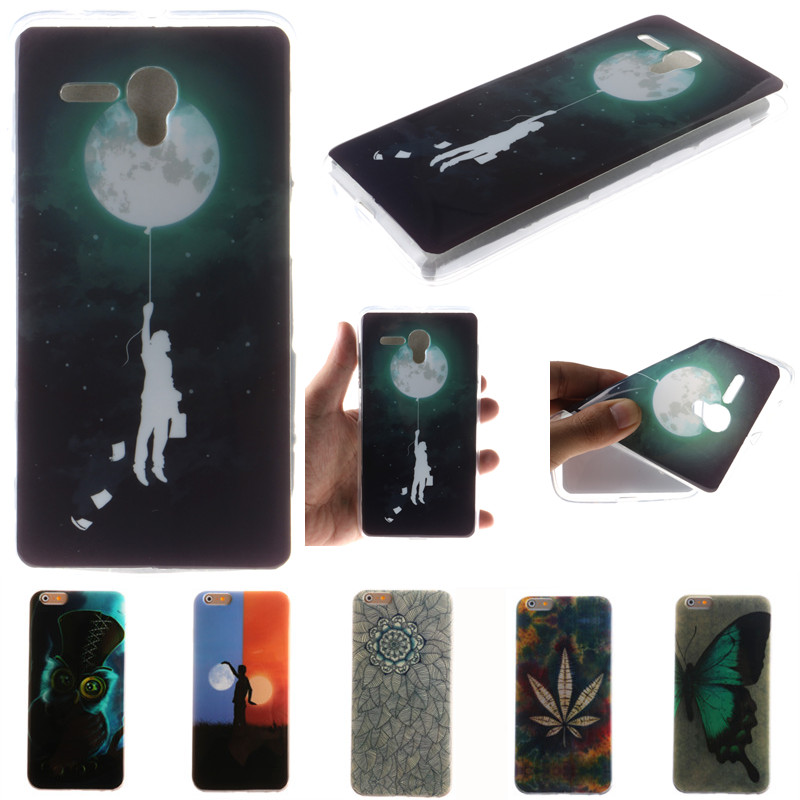 Cute cartoon moon boy owl flowers butterfly soft tpu fundas case for alcatel one touch idol 3 4 - Fundas alcatel one touch idol ...