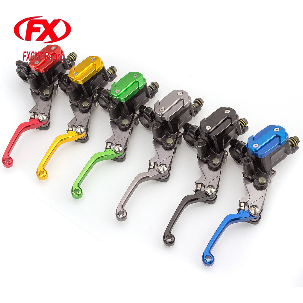 FX 7/8 50-550cc Dirt Pit Bike Motocross Brake Clutch Lever Master Cylinder Reservoir For Yamaha Virago XV250 1991 Motorcycles cnc 7 8 for honda cr80r 85r 1998 2007 motocross off road brake master cylinder clutch levers dirt pit bike 1999 2000 2001 2002