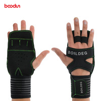 BOODUN Protect Wrist Fitness Weight Lifting GYM Gloves Men Sports bodybuilding Exercise Non slip Training Weightlifting Gloves