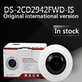 Versão inglês DS-2CD2942F-IS 4MP Fisheye Compacta Rede ip Suporte de Câmera de segurança 128G de armazenamento on-board