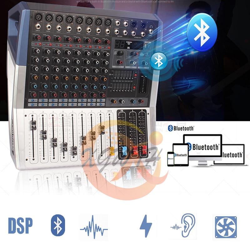 US $439 76 8% OFF|12 Channel 16 DSP Effect Sound Amplifier DJ Mixer Console  Equipment Bluetooth USB Karaoke Mixing Recording Studio Equipment-in DJ