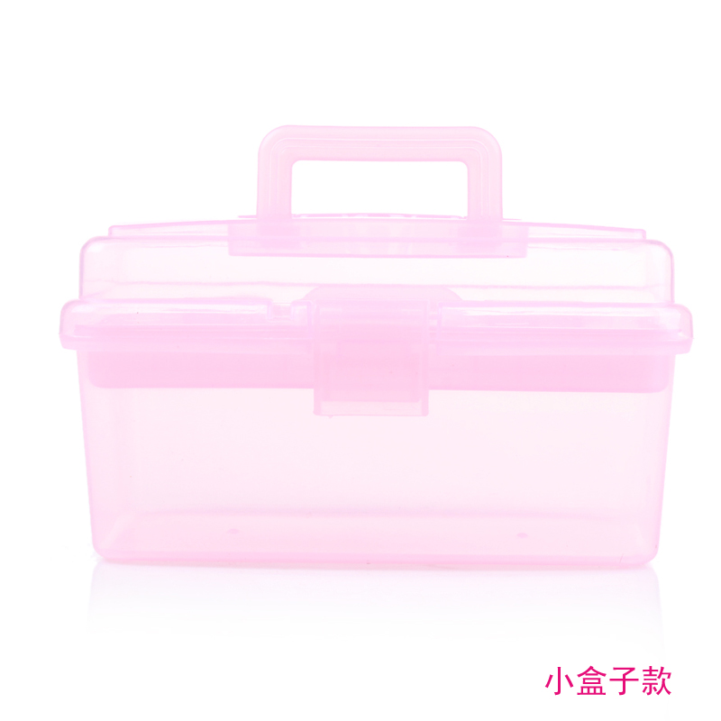 Nail Tool Box Polish Gel Storage Box Case Holder Plastic
