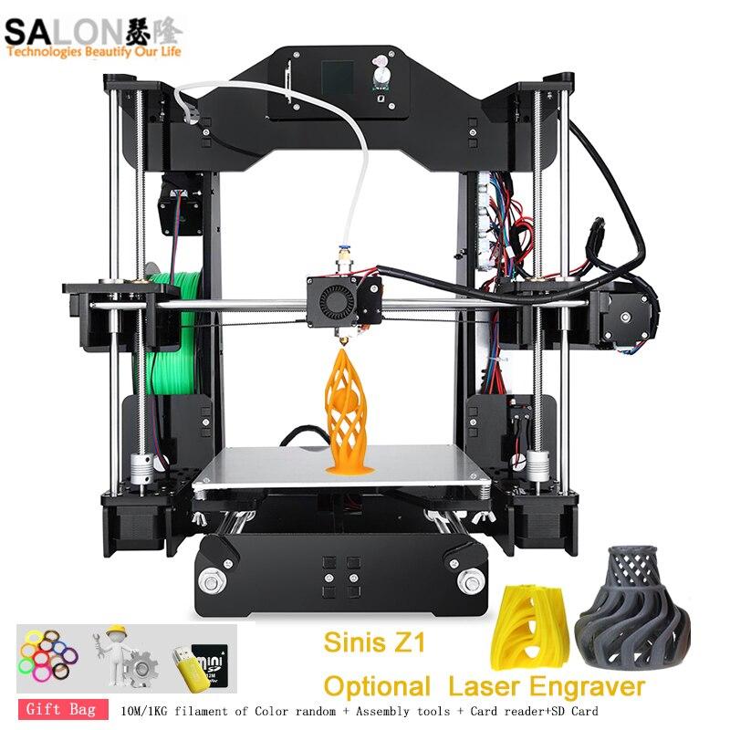 Sinis Laser Z1 3D Printer Reprap I3 Large Print Size Imprimante 3D Frame Lattice Platform Desktop 3d Printer Diy Kit for Gift zonestar newest full metal aluminum frame big size 300mm x 300mm auto level laser engraving run out decect 3d printer diy kit