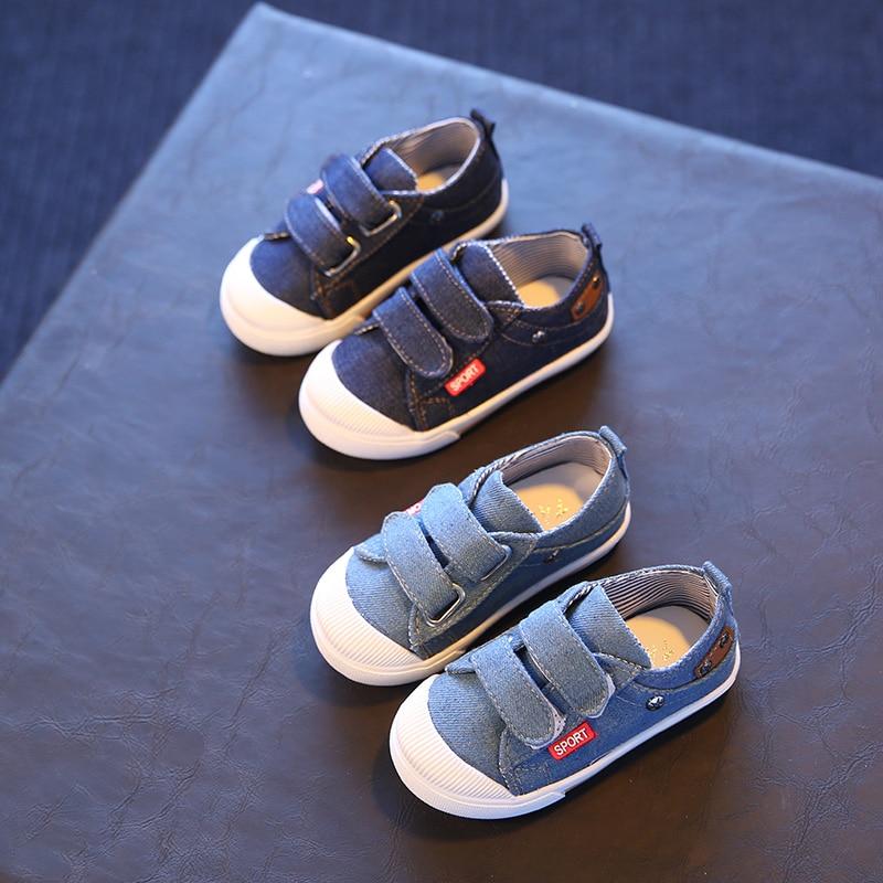Дети Холст Спортивная обувь для маленьких мальчиков и девочек повседневные Спортивная обувь удобная детская обувь для учащихся