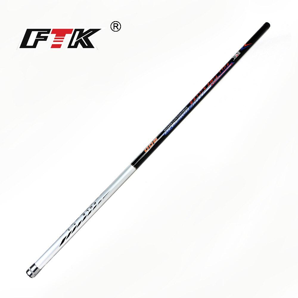 FTK neue 99% Carbon Pole Angelrute für 5 m, 6 m, 7 m, 8 m, 9 m Super harte Hand Stange CW. 10-30g für Süßwasser Angeln