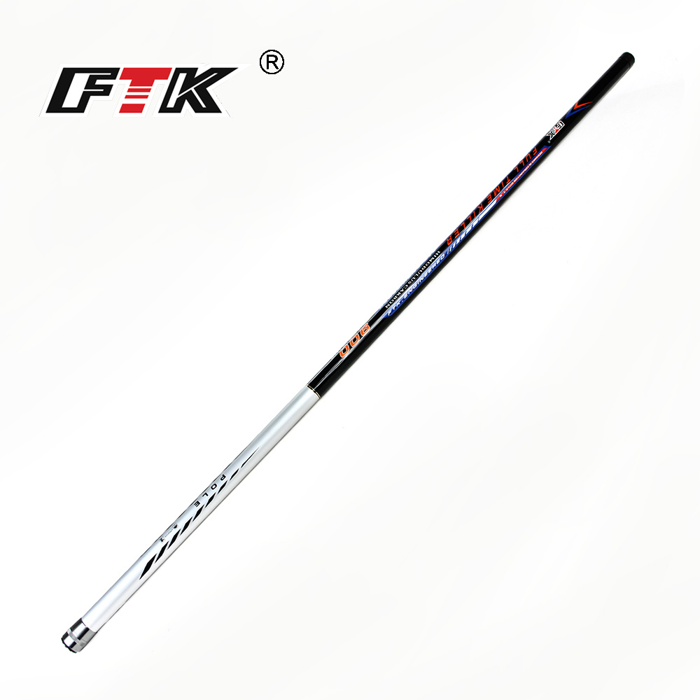 FTK new 99% Carbon Pole Fishing Rod for 5m,6m,7m,8m,9m Super hard Hand Rod C.W. 10-30g for Freshwater Fishing