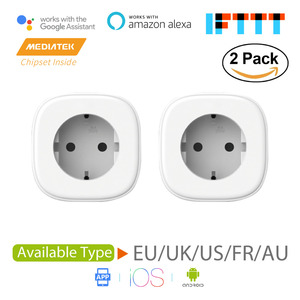 Smart WiFi Plug,Alexa & Google Assistant & IFTTT Supported, App Remote Control MSS210/MSS310 2-Pack US/EU/UK/FR Standard(China)