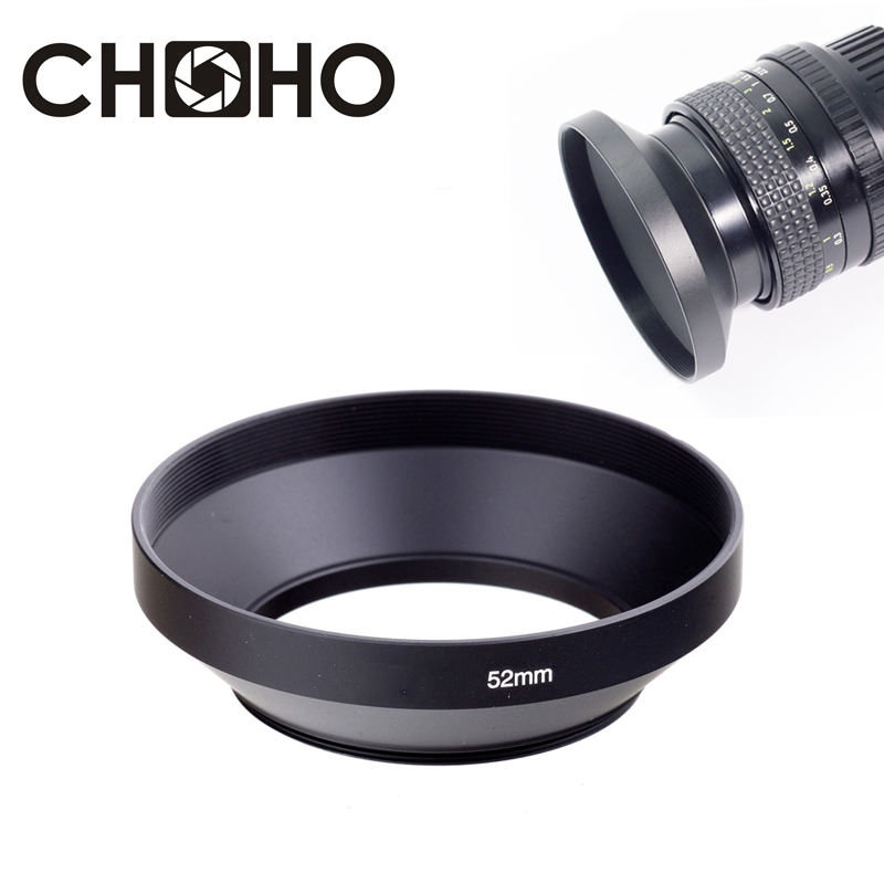 Camera Lens Hood Metal Wide Angle 49mm 52mm 58mm 55mm 62mm 67mm 72mm 77mm 82mm Screw-in Lente Protect For Canon Nikon Sony Leica