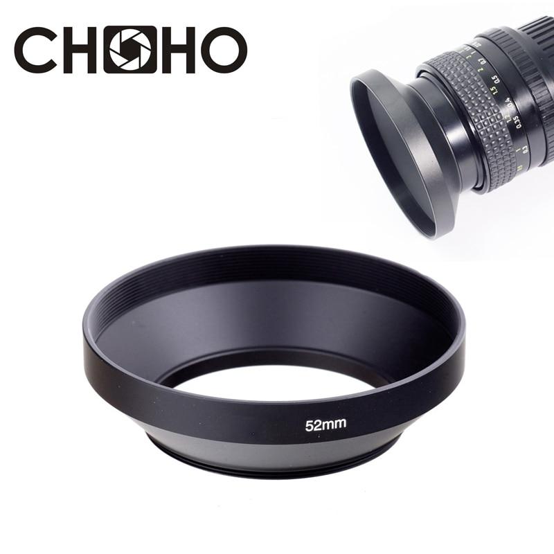 1Pcs 49mm 52mm 55mm 58mm 62mm 67mm 72mm 77mm Black Aluminum Metal Telephoto Hood for Camera Lens 55mm