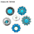 20pcs for Choosing Blue Collection Snap Button Charms DIY Jewelry Findings for Bracelets/Necklaces/Earrings/Rings Emma Florence