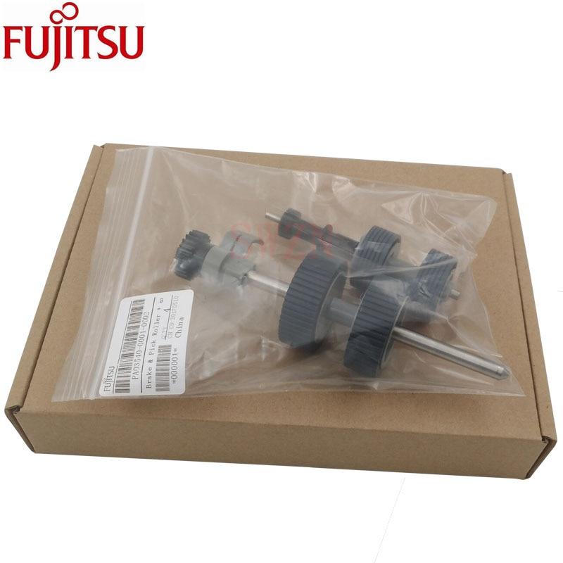 Original neue Bremse & Pick Roller + achse Fujitsu fi-6130 fi-6140 fi-6230 fi-6240 Fi-6225 6250 IX500 PA03540-0001 PA03540-0002
