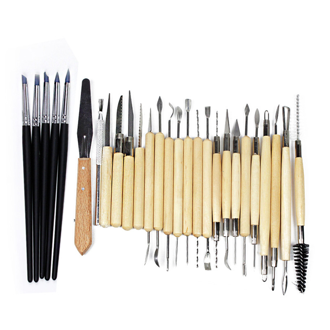 New 27pcs Silicone Rubber Shapers Pottery Clay Sculpture Carving Modeling Pottery Hobby ToolsNew 27pcs Silicone Rubber Shapers Pottery Clay Sculpture Carving Modeling Pottery Hobby Tools