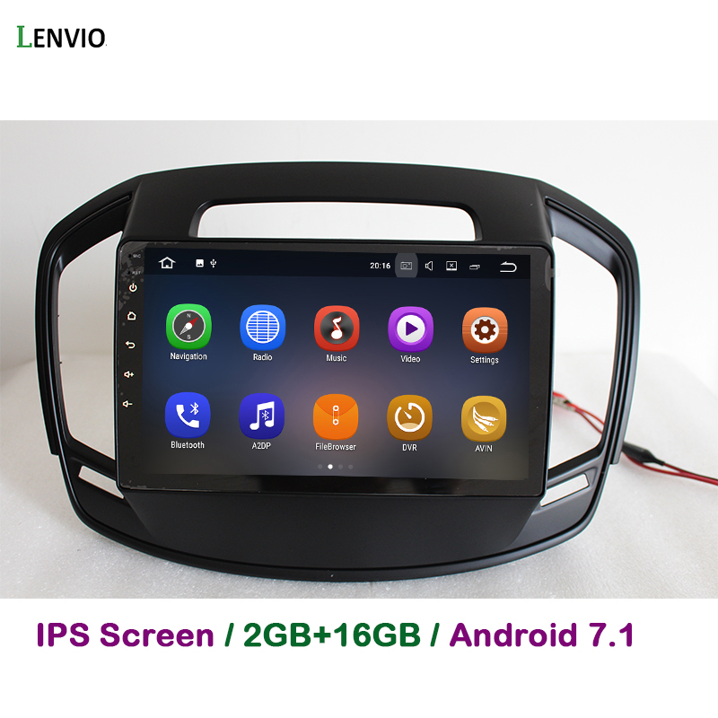 Lenvio 2G RAM Android 7.1 CAR DVD GPS Navigation Player For Opel Insignia 2014 2015 2016 Quad Core Stereo Radio head unit BT IPS