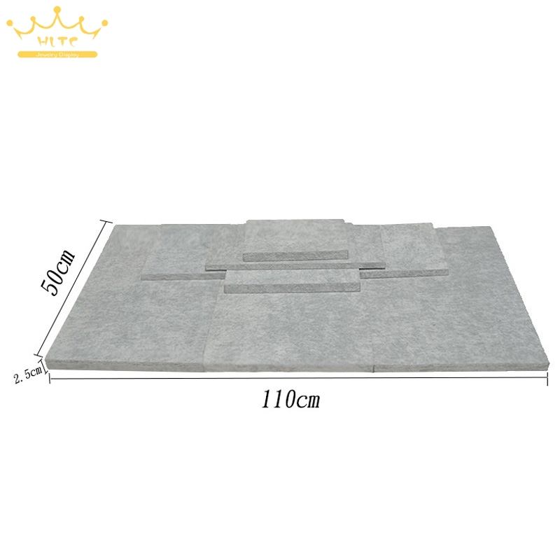 MDF Board Substrate for Jewelry Display Grey Velvet Window Showcase Bottom Board Jewelry Store Showed