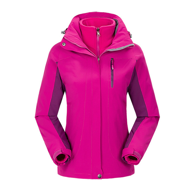 New Outdoor Trekking Camping Sport Winter Jacket Women Hiking Ski Snowboard 3in1 With Fleece Liner Coat Leisure Jaqueta Feminina 3 in 1 outdoor jacket windproof waterproof coat women sport jackets hiking camping winter thermal fleece jacket ski clothing