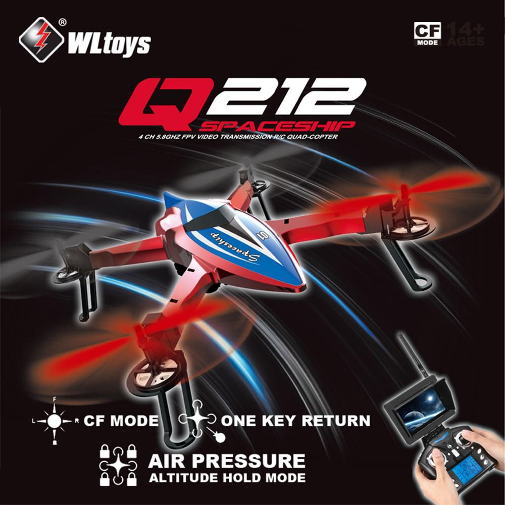 S15954 Wltoys Q212-GN RC Drone One Key Return 3D Roll UAV RC Quadcopter RTF With 720P HD Camera 5.8G wifi FPV Real-Time Video jjrc h8d 2 4ghz rc drone headless mode one key return 5 8g fpv rc quadcopter with 2 0mp camera real time lcd screen s15853