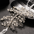 Vintage Silver Flower Bridal Crown Charming Rhinestone Imitation Pearl Tiaras For Women Wedding Diadem Hair Accessory Wholesale