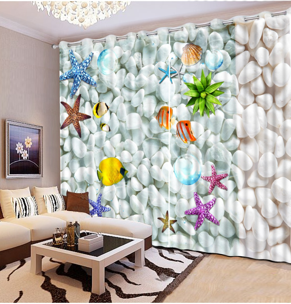 Photo Customize size 3d curtains Natural Beautiful ocean beach curtains for living roomPhoto Customize size 3d curtains Natural Beautiful ocean beach curtains for living room